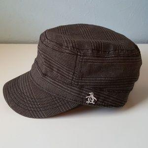 Original Penguin Military Hat Baseball Cap Brown